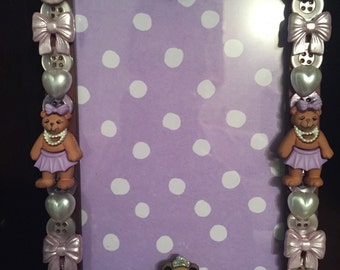 Dancing Bears Button Picture Frame