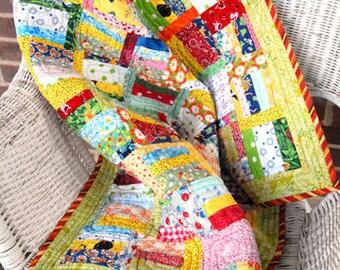 Grandma goes Modern baby quilt pattern