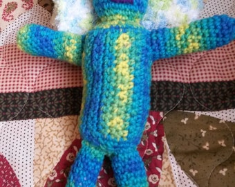 Handmade crochet stuffed animal, Mo-mo