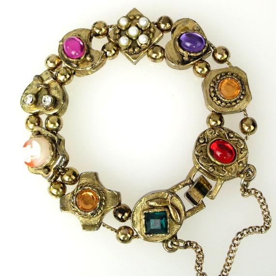 Slide Charms For Bracelets: Slide Bracelet Victorian Revival Style Charms