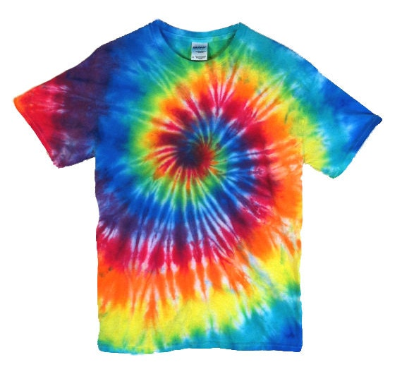 tie dye t shirt classic rainbow spiral 100 cotton mens. Black Bedroom Furniture Sets. Home Design Ideas
