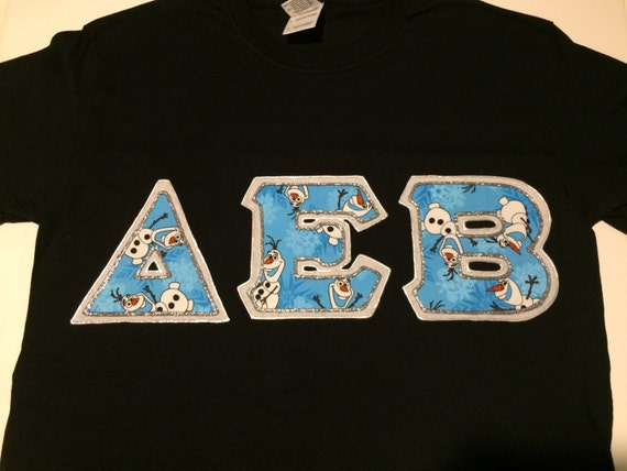 greek letter shirts items similar to custom letter shirt delta epsilon 1269