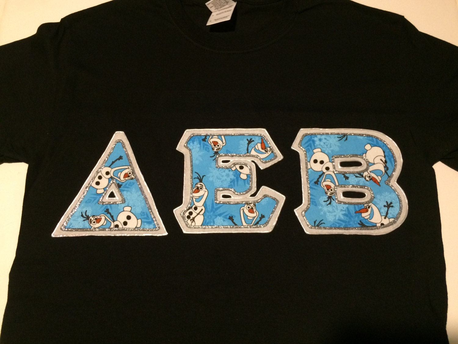 Custom greek letter shirt delta epsilon beta by for Custom greek letter t shirts