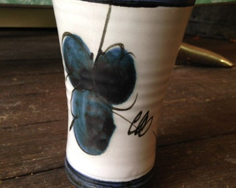 "Vintage Handmade Ceramic Glazed Vase - 5 3/4"" Tall"