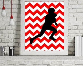 Football Decor, Sports Wall Art, Football Printables, Sports Decorations, Football Poster Print, Wall Decor, Football Sign, Sports Gifts