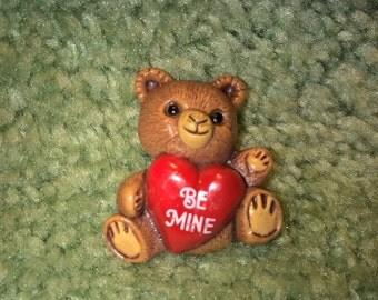 1985 Hallmark Valentine's Day Pin - Bear with Heart