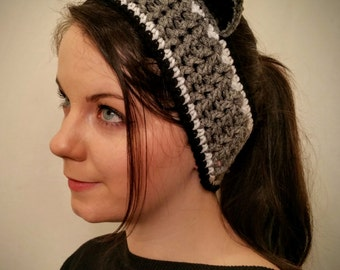 Raccoon Headband Ear Warmer