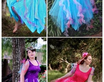 New Carnival  Adult Fairy Dress  ~Halloween Costume ~Mardi Gras~Theatre~Fantasy~ Masquerade