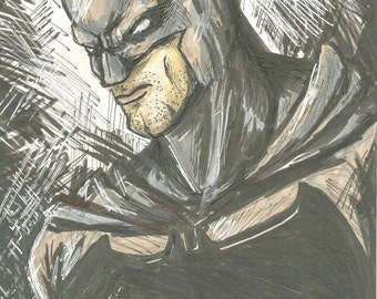 ORIGINAL Batman marker sketch