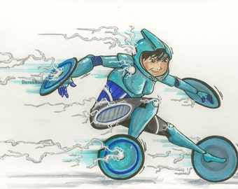ORIGINAL GoGo Tomago/Quicksilver marker sketch