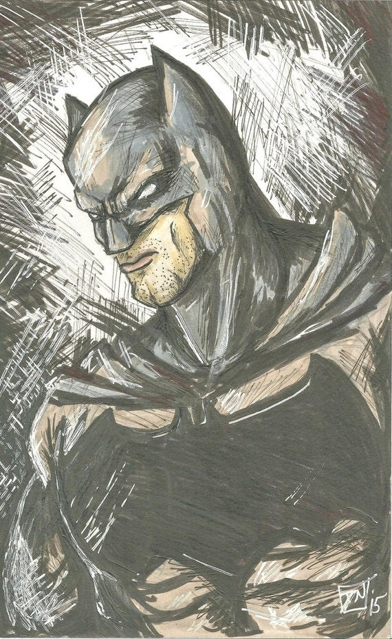 ORIGINAL Batman marker sketch