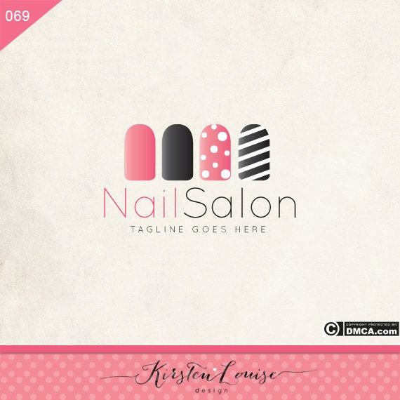 hair and nail salon logo edandcasource - Nail Salon Logo Design Ideas