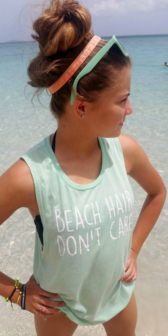 Muscle Tank Beach Hair Don't Care Womens Tank Top