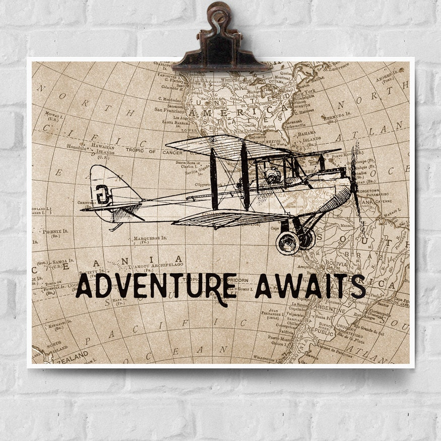 Printable Vintage Airplane Party Collection Diy By: Adventure Awaits Print Vintage Airplane Decor Adventure