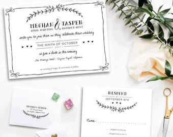 Eternal Custom Wedding Invitations Sample