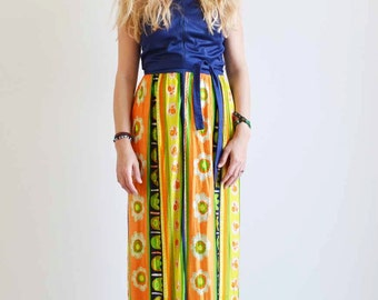 Bright 1970s Vintage Summer Dress