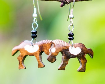 Horse Earrings Made in Kenya
