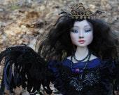 """OOAK ART doll ''Gamayun"""" (make to order)"""
