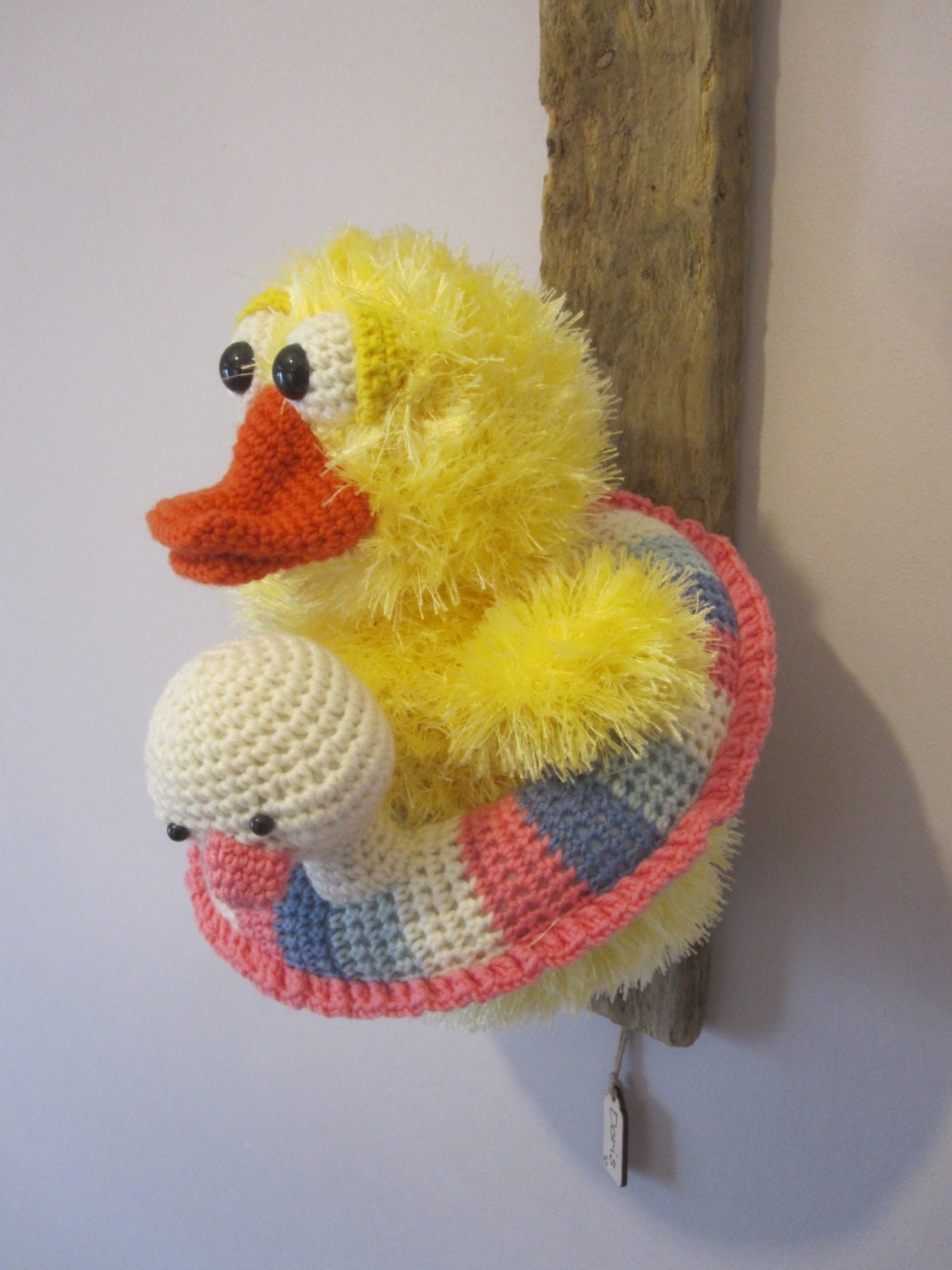 Crochet Trophy Head Faux Taxidermy Wall Hanging Home Decor Duck ...