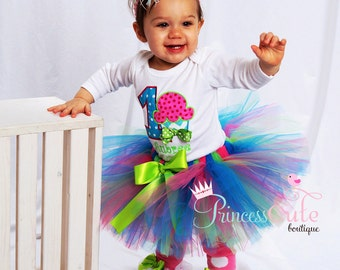 Cupcake Cutie Birthday Girl Outfit