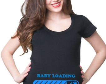 Baby Loading Please Wait T-Shirt Maternity Tee Shirt Pregnancy Top