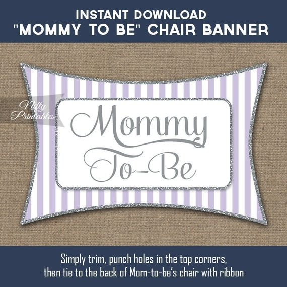 baby shower chair banner lilac baby shower mommy to be sign