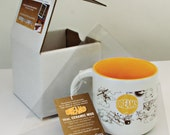 HOLIDAY SALE! 14 oz. 'DREAMS' Aviation-themed Whimsical Ceramic Mug in gift/shipping box