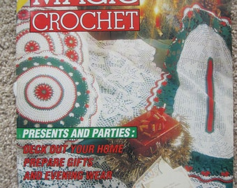 Magic Crochet Magazine - October 1993 - Noel Decor Special - Five Festive Tablecloths