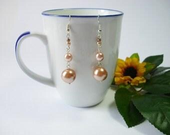 Long pearl earrings long dangle earrings wedding earrings fashion earrings trendy earrings jewelry accessory gift for her fashion jewelry