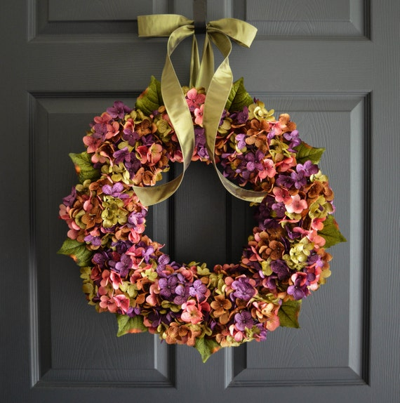 Beautiful Wreaths Blended Hydrangea Wreath Spring Wreaths
