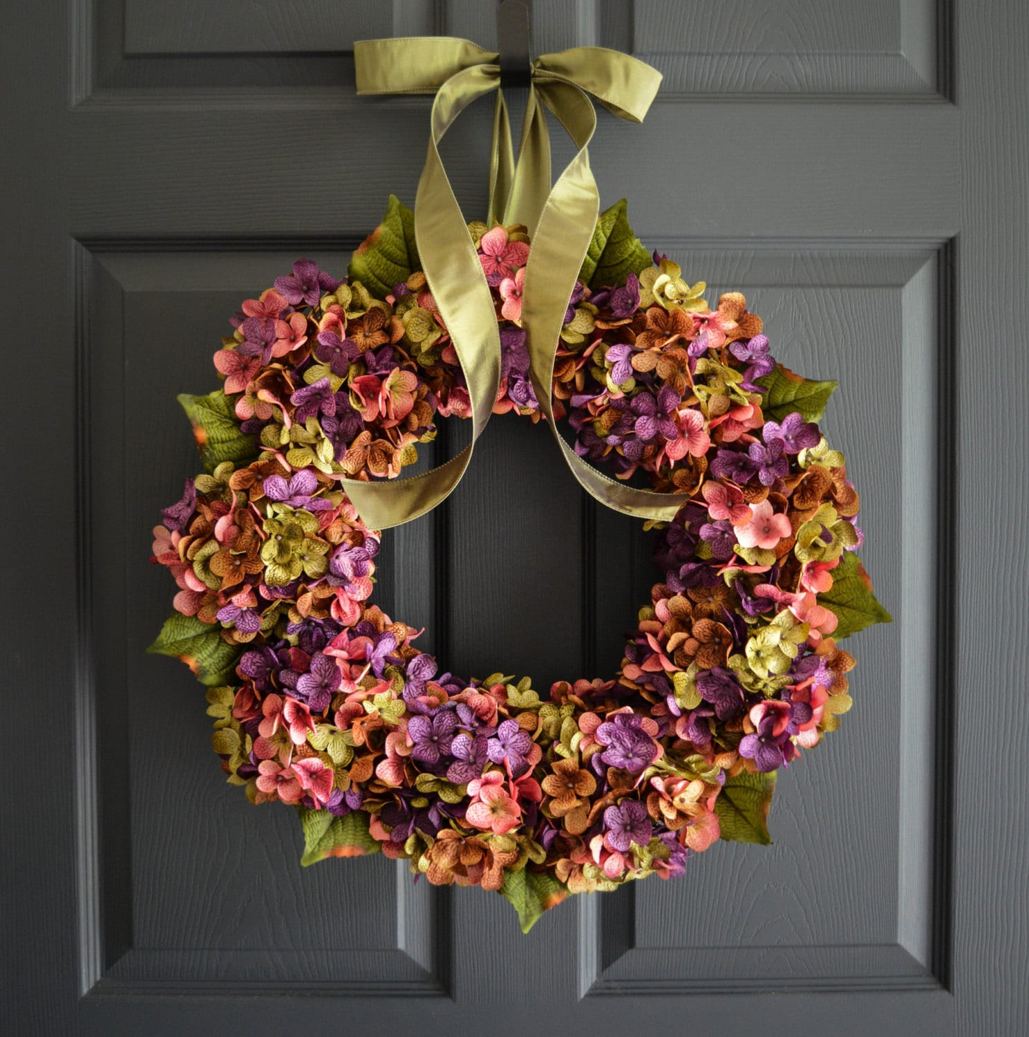 summer wreaths for front doorBeautiful Wreaths Blended Hydrangea Wreath Summer Wreaths