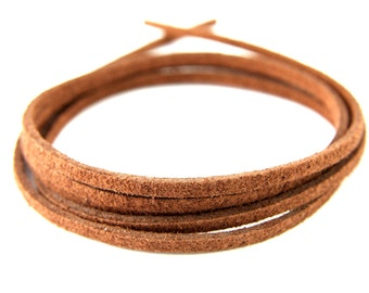3mm Suede Leather Cord, 5mt 10mt 20mt 50mt Faux Suede Cord, Brown Suede Leather Cord, 3mm Flat Faux Leather, Flat Faux Leather Suede Cord
