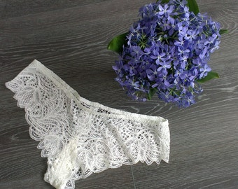 Bridal Lace brief F11 (White), Wedding lace panties, Bridal panties, Bridal Lingerie, Wedding Lingerie, Christmas Gifts, For Her, For Woman
