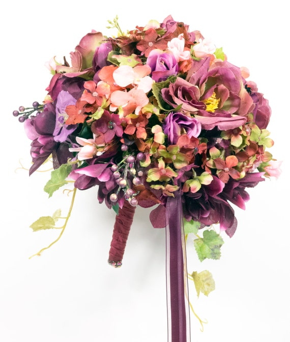 SILK FLOWERS WEDDING Bouquets Packages By GailsForeverFlowers