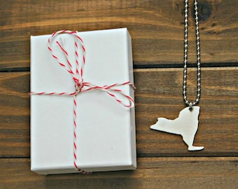 NY Necklace New York Charm State Necklace NY Charm Necklace Silver New York Necklace New York Pendant Charm Necklace Metal Gift Made In USA