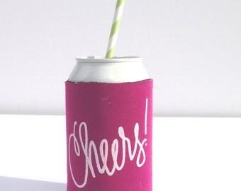 Cheers Drink Hugger - Magenta!