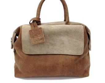 Sale!!! Brown Leather handbag, Small Leather Cross Body Bag, Shoulder Bag, Leather Bag Purse washed Leather bag, iPhad bag