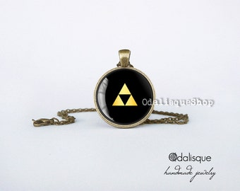 Legend of Zelda Triforce Pendant Ocarina Necklace Jewelry Birthday Gift Keyring Bronze Geekery Gifts for her for him cb15