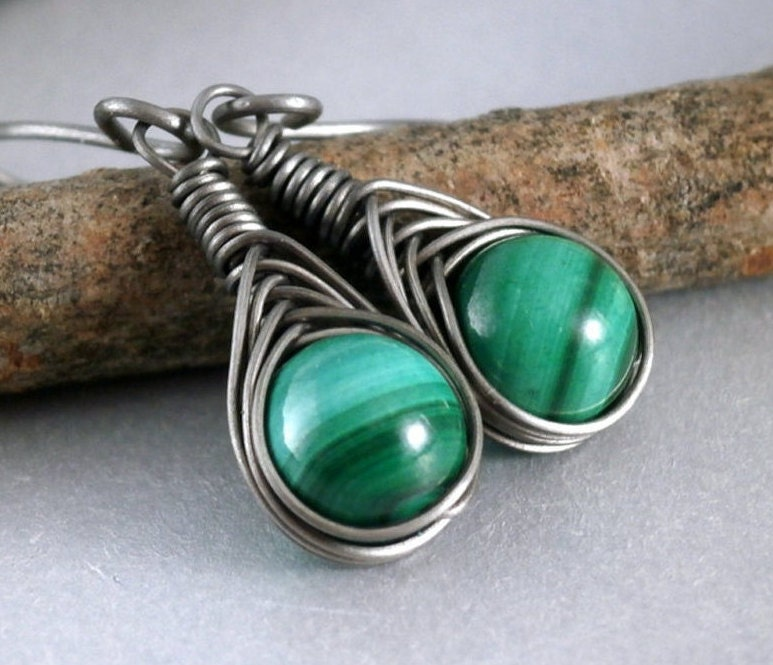 grade titanium earrings grade 1 titanium malachite earrings hypoallergenic wire 3911