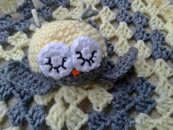 Crochet Lovey Blanket, Crochet Owl Lovey, Baby Owl Blanket, Baby ...