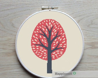 cross stitch pattern tree, summer tree, PDF pattern ** instant download**