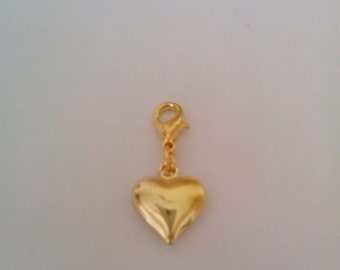 Exquisite clip on charm with a 'heart' feature design for Anklets/Bracelets.