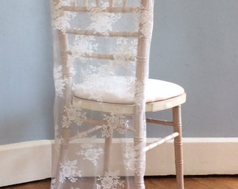 Lace Fabric - ivory or whte, wedding, dressmaking, craft, chair covers