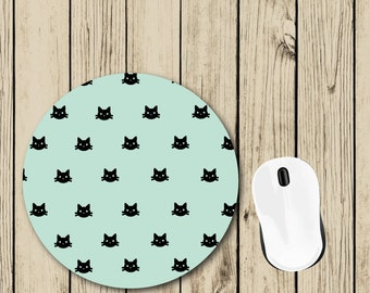 Cat Mousepad - Cat Lover Gift - Gift for Her - Cute Mousepad - Student Gift - College Dorm Decor - Teacher Appreciation Gift - Desk Decor
