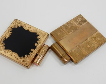 Vanity Compacts, Helena Rubinstein, Dorothy Gray Compact, Book Piece Compacts, Collectible Compacts, 1940s Compacts, Lipstick Clasp Compacts