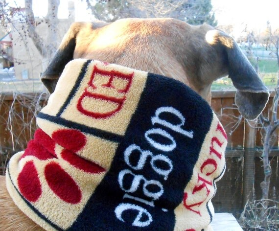 Fuzzy dog snood, XL neck warmer; large neckwarmer, big tube scarf ...