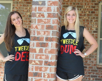 Tweedle Dee and Dum Vacation Shirts