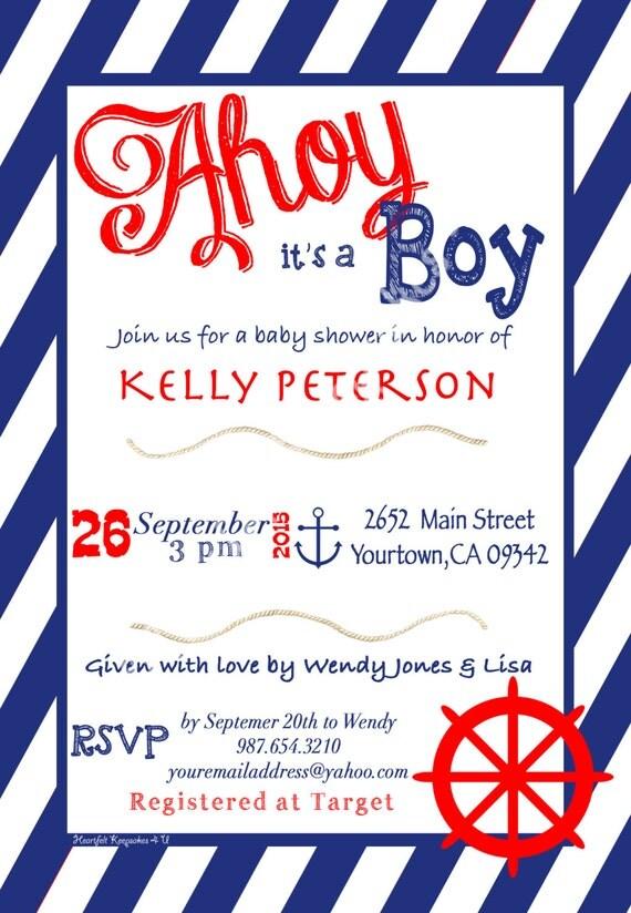 boy baby shower invitation english or spanish, Baby shower invitations