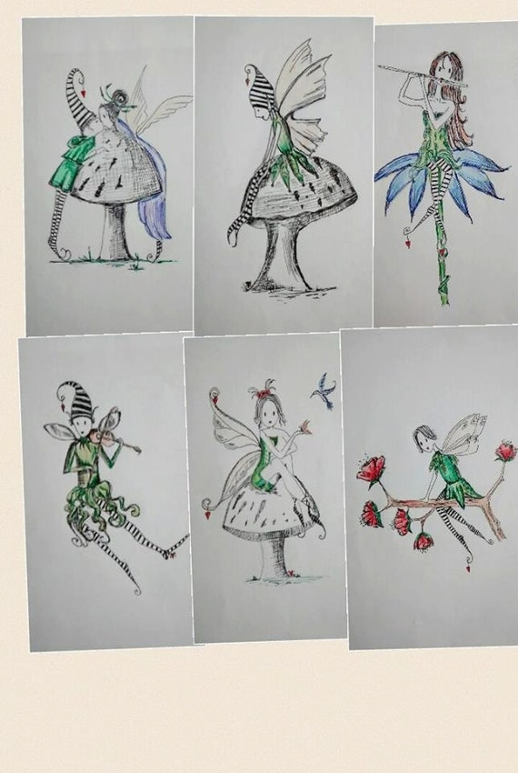 Embroidery quilt Garden Fairy Elf Collection 8 Designs
