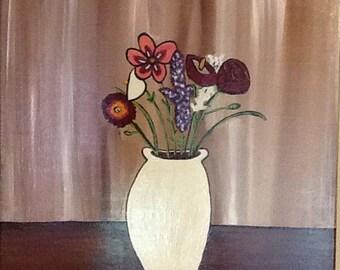 "16x20 Original ""Las Flores"" Acrylic painting"